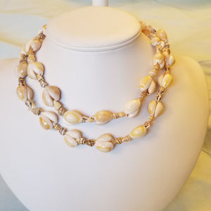 """4/$30 NWT Handmade REAL SHELL Necklace 34"""""""